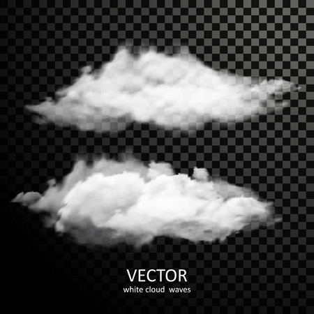 exquisite: exquisite white clouds collection on transparent background Illustration