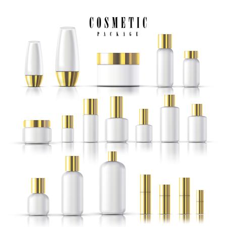 Blank kosmetische Package-Collection-Set isoliert auf weißem Hintergrund Standard-Bild - 48356253