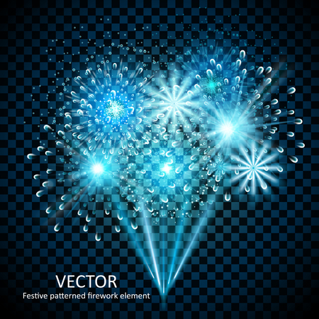 gorgeous fireworks collection set on transparent background