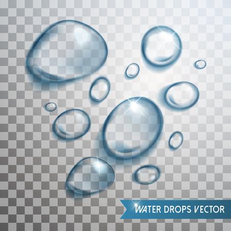 kropla deszczu: exquisite water drops elements collection set over transparent background