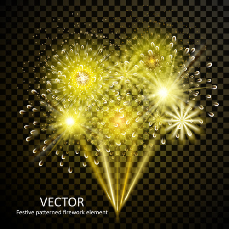 gorgeous: gorgeous fireworks collection set on transparent background