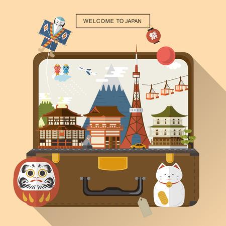 創造的な日本旅行ポスター - 日本語ランタンの祭り