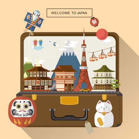 an island tradition: creative Japan travel poster - Festival in Japanese words on the lantern