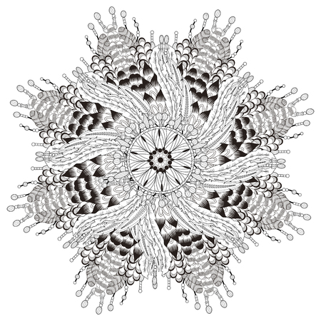 exquisite: attractive mandala coloring page with in exquisite line