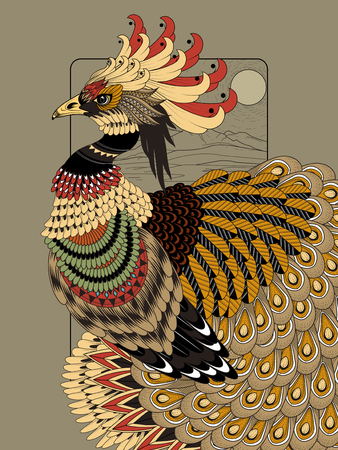 imposing: sumptuous peacock coloring page in exquisite line