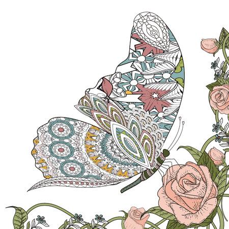 Hermosa Página Para Colorear Mariposa En Línea Exquisita ...