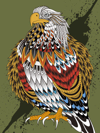 imposing: imposing eagle coloring page in exquisite line