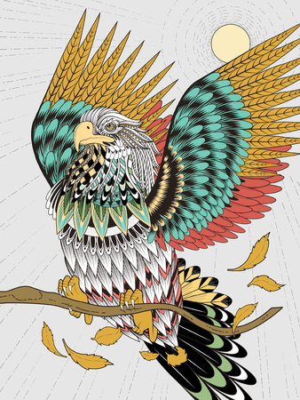 exquisite: imposing flying eagle coloring page in exquisite line