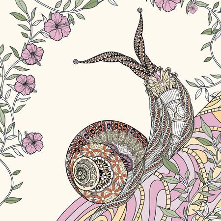 elegante para colorear caracol en línea exquisita