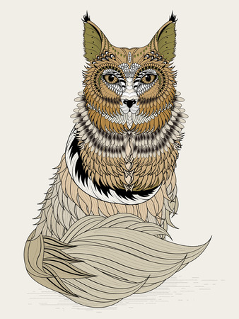 exquisite: adorable fox coloring page in exquisite line