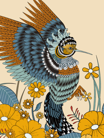 exquisite: lovely hummingbird coloring page in exquisite line