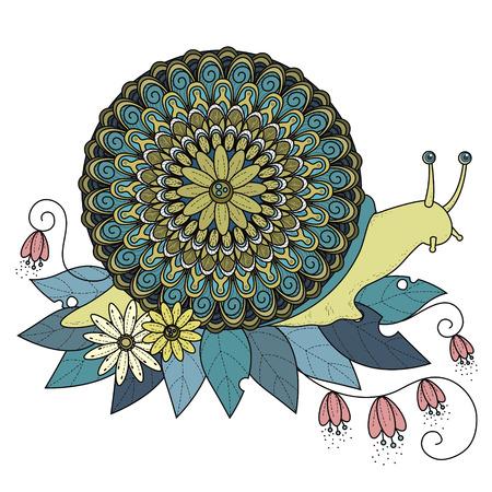 sumptuous: sumptuous snail coloring page in exquisite line