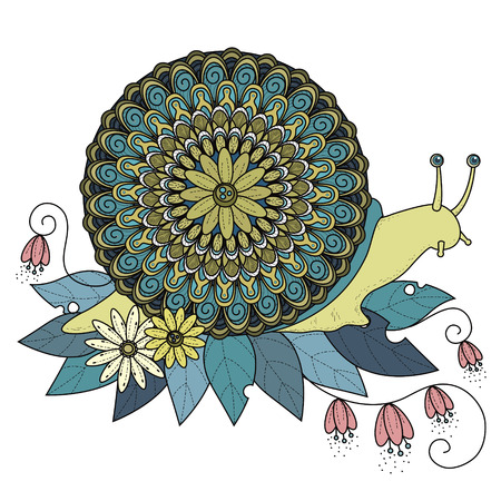 exquisite: sumptuous snail coloring page in exquisite line