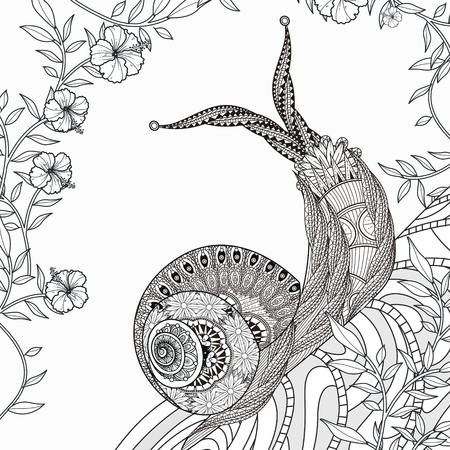 caracol: elegante para colorear caracol en línea exquisita
