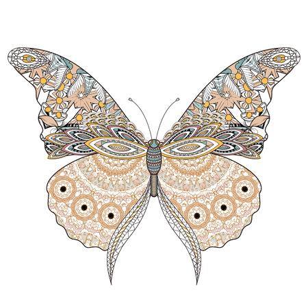 Schönen Schmetterling Malvorlagen In Exquisite Linie Lizenzfrei ...