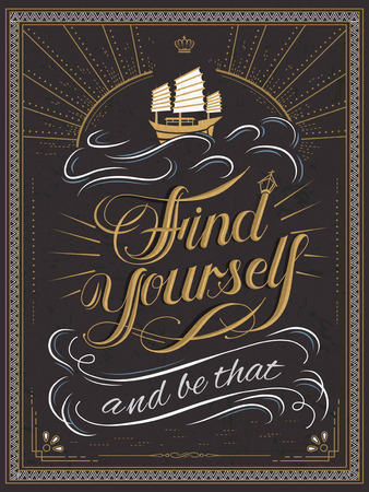 yourself: attractive Find yourself calligraphy and poster design