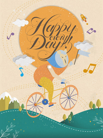 every: adorable Happy every day calligraphy and poster design