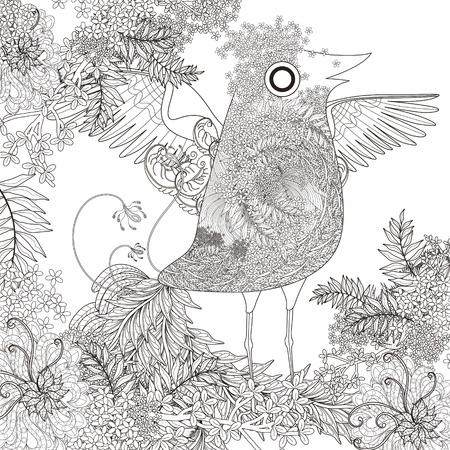 Pájaro Enojado Trae Regalos - Página Para Colorear Para Adultos ...