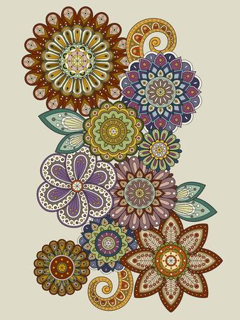 exquisite: elegant flower coloring page design in exquisite line