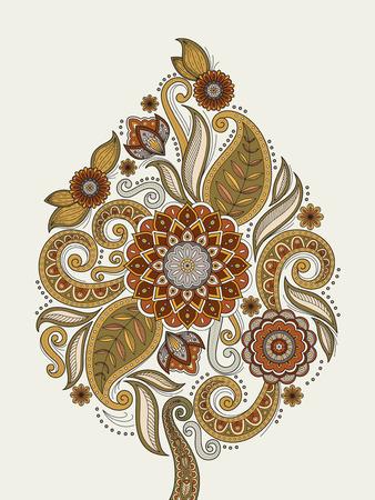 graceful: graceful flower coloring page design in exquisite line Illustration