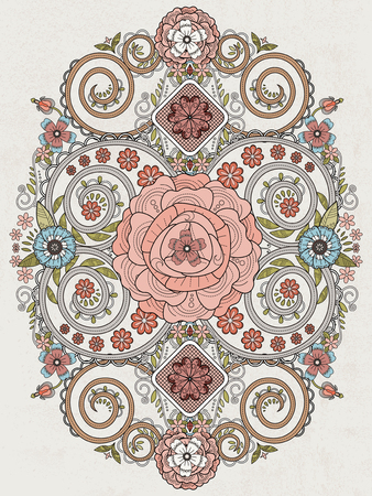 exquisite: romantic floral coloring page in exquisite line