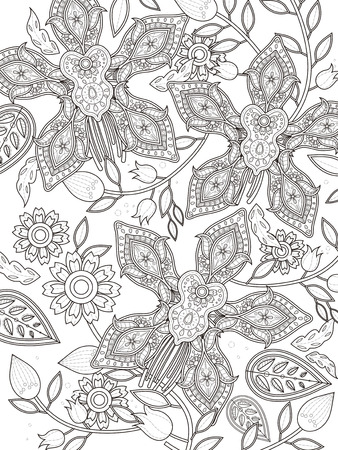 orchid: elegant orchid coloring page in exquisite line