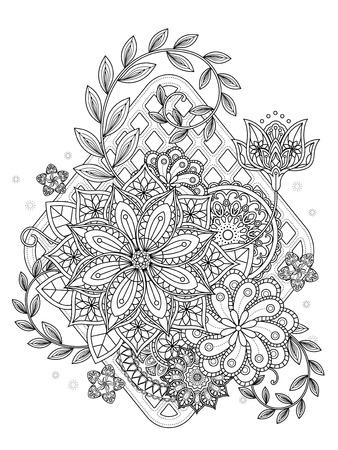 Erfreut Blumen Kaleidoskop Malvorlagen Zeitgenössisch - Framing ...