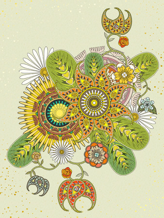 color pages: attractive floral coloring page in exquisite line