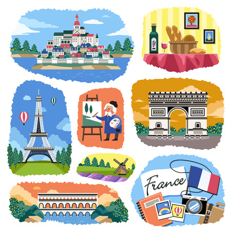 impression: lovely France impression with famous attractions and specialties