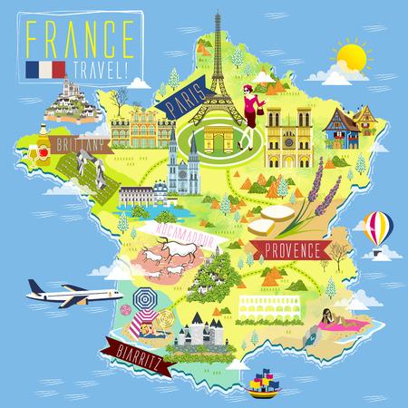 매력 기호와 사랑스러운 프랑스 여행지도