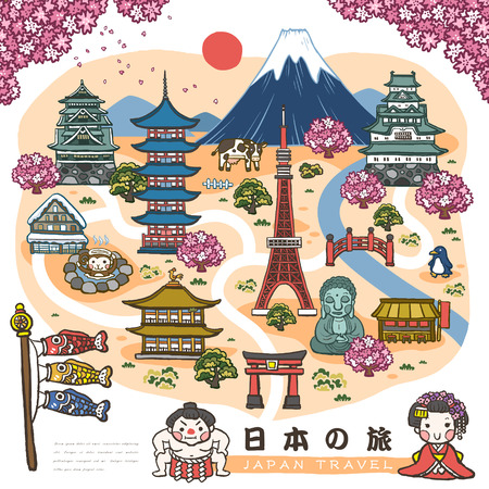 Tokyo Tourists Stock Illustrations Cliparts And Royalty Free - Tokyo map for tourists