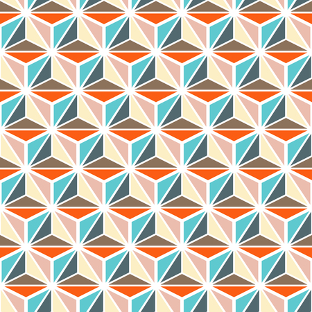 repetition: Multicolored seamless pattern background of geometric abstract texture
