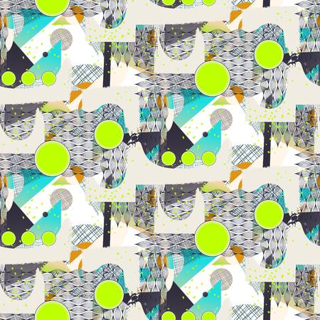 Modern abstract art geometric background seamless pattern