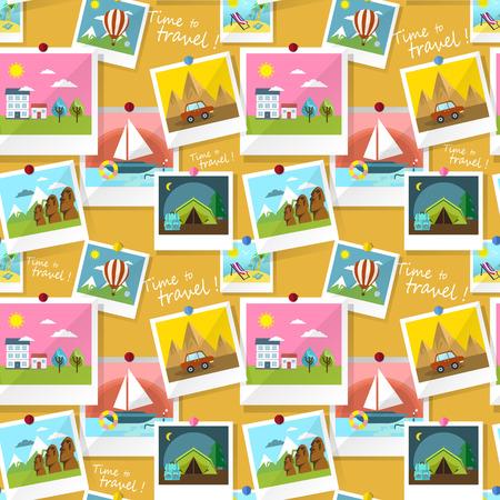 destination: Set of instant photo prints of travel destination