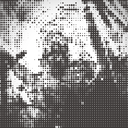 distort: abstract halftone background in brown and beige