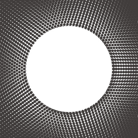 circle abstract: geometric and abstract halftone background in circle shape