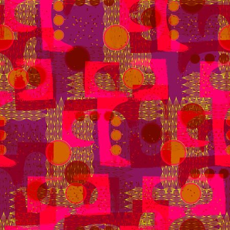 abstract art background: Modern abstract art geometric background seamless pattern Illustration