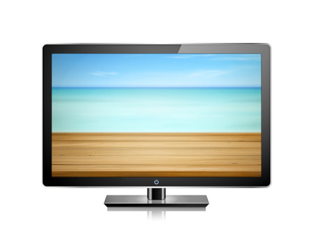 resolution: New TV with high resolution. 3D illustration