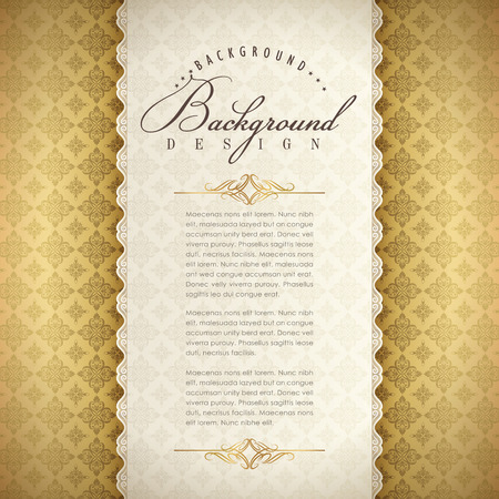 Elegant background template design. abstract gold pattern.