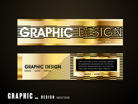 golden color: luxurious banner template design set in black and golden color