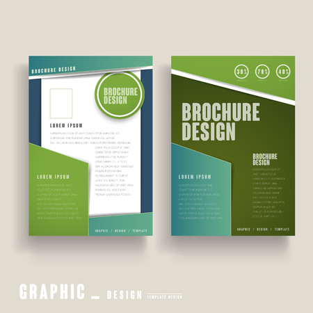 Modern Brochure Template Design In Blue And White Royalty Free
