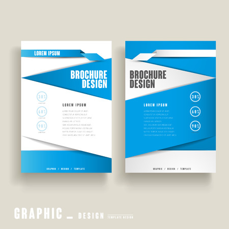 clean cut: modern brochure template design in blue and white