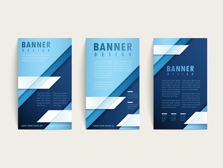 simplicity: simplicity banner template design set with geometric elements