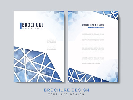 intro: modern brochure template design with polygonal element in blue Illustration