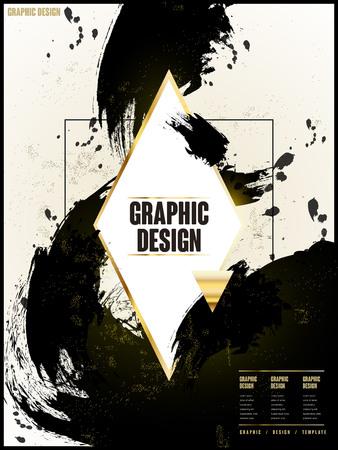 intro: elegant brochure template design with ink brush element