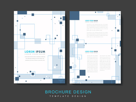simplicity brochure template design with squares elements