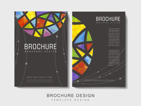 intro: modern brochure template design with polygonal element