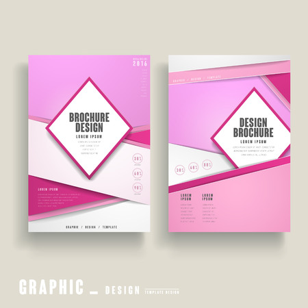 contemporary design: contemporary brochure template design in pink and white