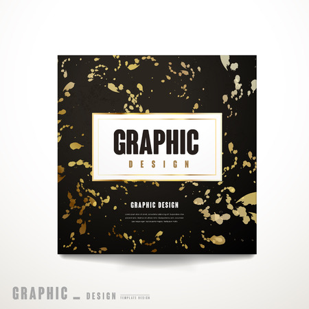 intro: luxurious brochure template design with ink drops element