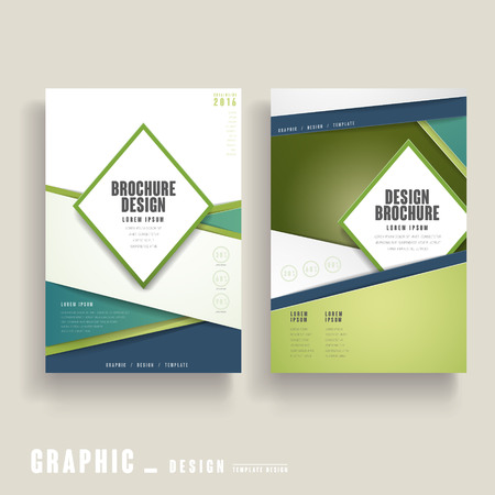 clean cut: contemporary brochure template design in green and white